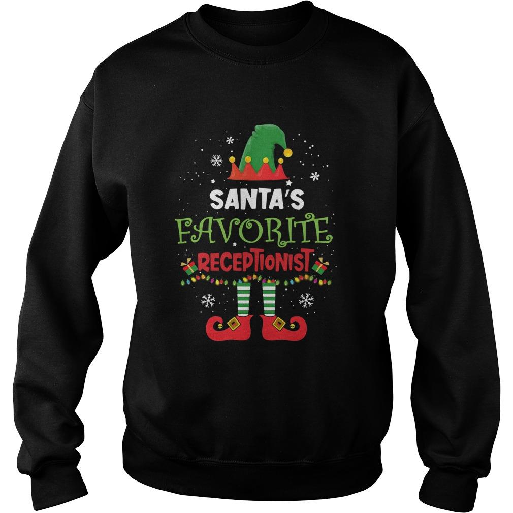 Elf Santas Favorite Receptionist  Sweatshirt