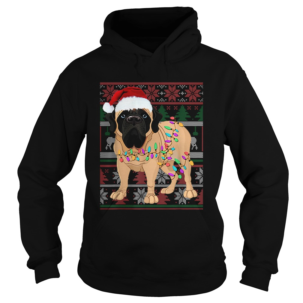 English Mastiff Ugly Sweater Christmas Gift  Hoodie