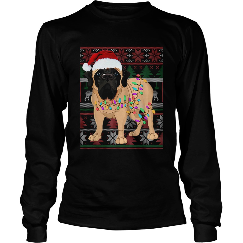 English Mastiff Ugly Sweater Christmas Gift  LongSleeve