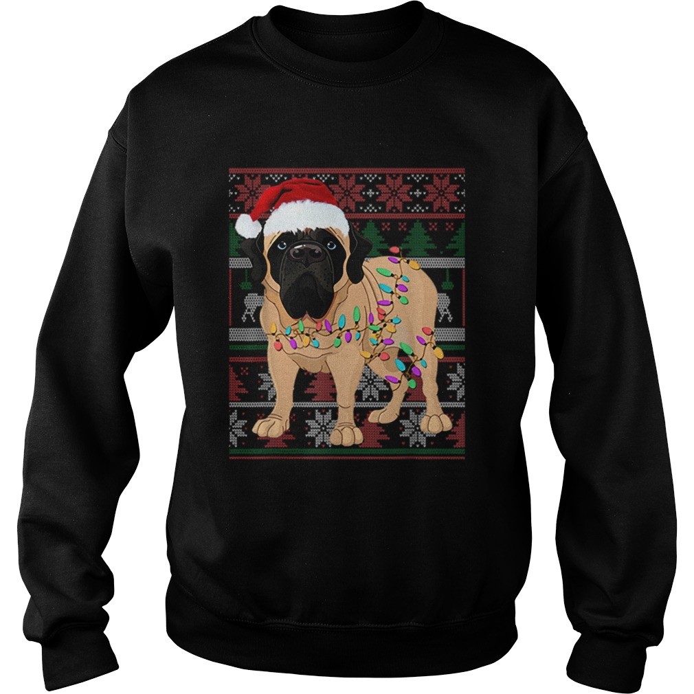 English Mastiff Ugly Sweater Christmas Gift  Sweatshirt