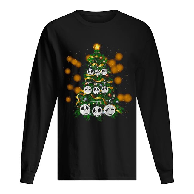 Face Jack Skellington Christmas tree  Long Sleeved T-shirt