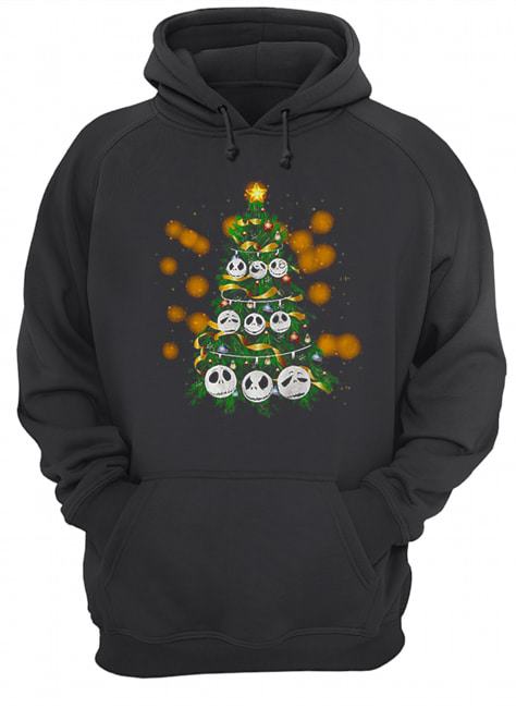 Face Jack Skellington Christmas tree  Unisex Hoodie