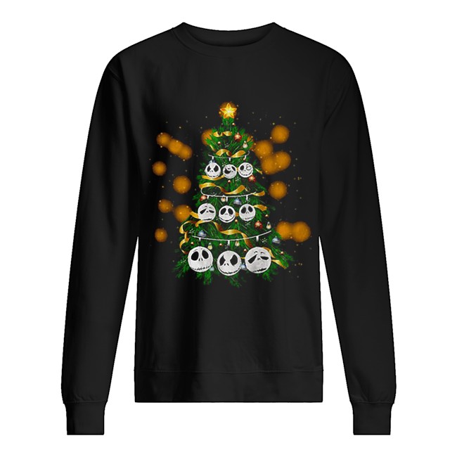 Face Jack Skellington Christmas tree  Unisex Sweatshirt
