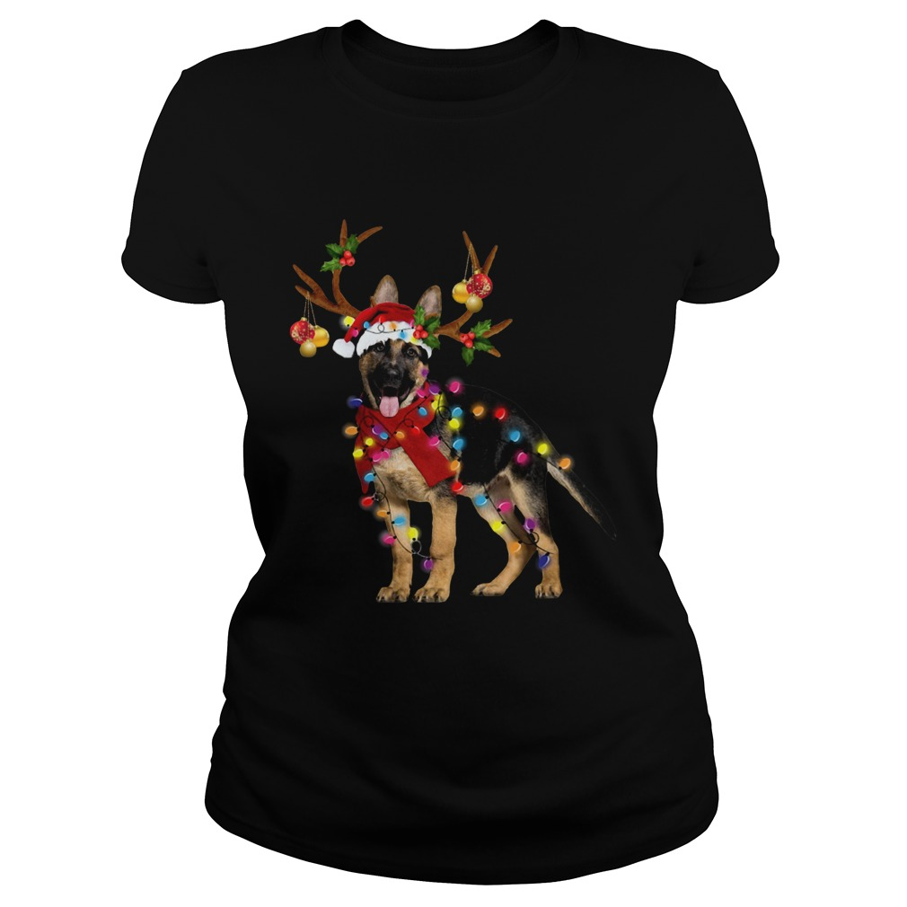 German Shepherd Gorgeous Reindeer Christmas  Classic Ladies
