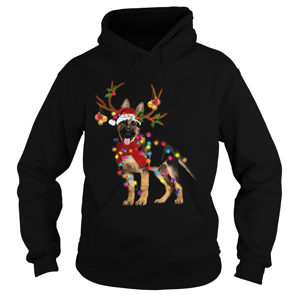 German Shepherd Gorgeous Reindeer Christmas  Hoodie