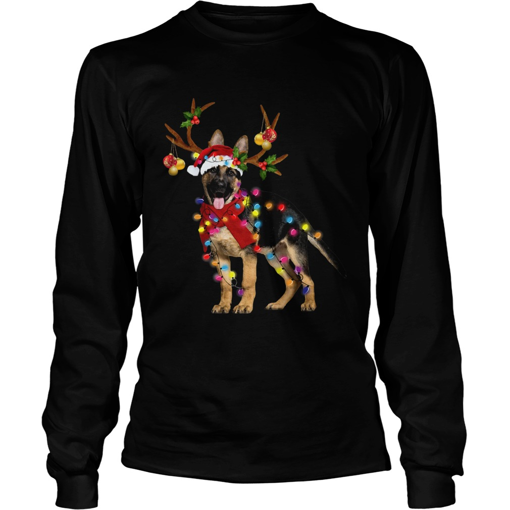 German Shepherd Gorgeous Reindeer Christmas  LongSleeve
