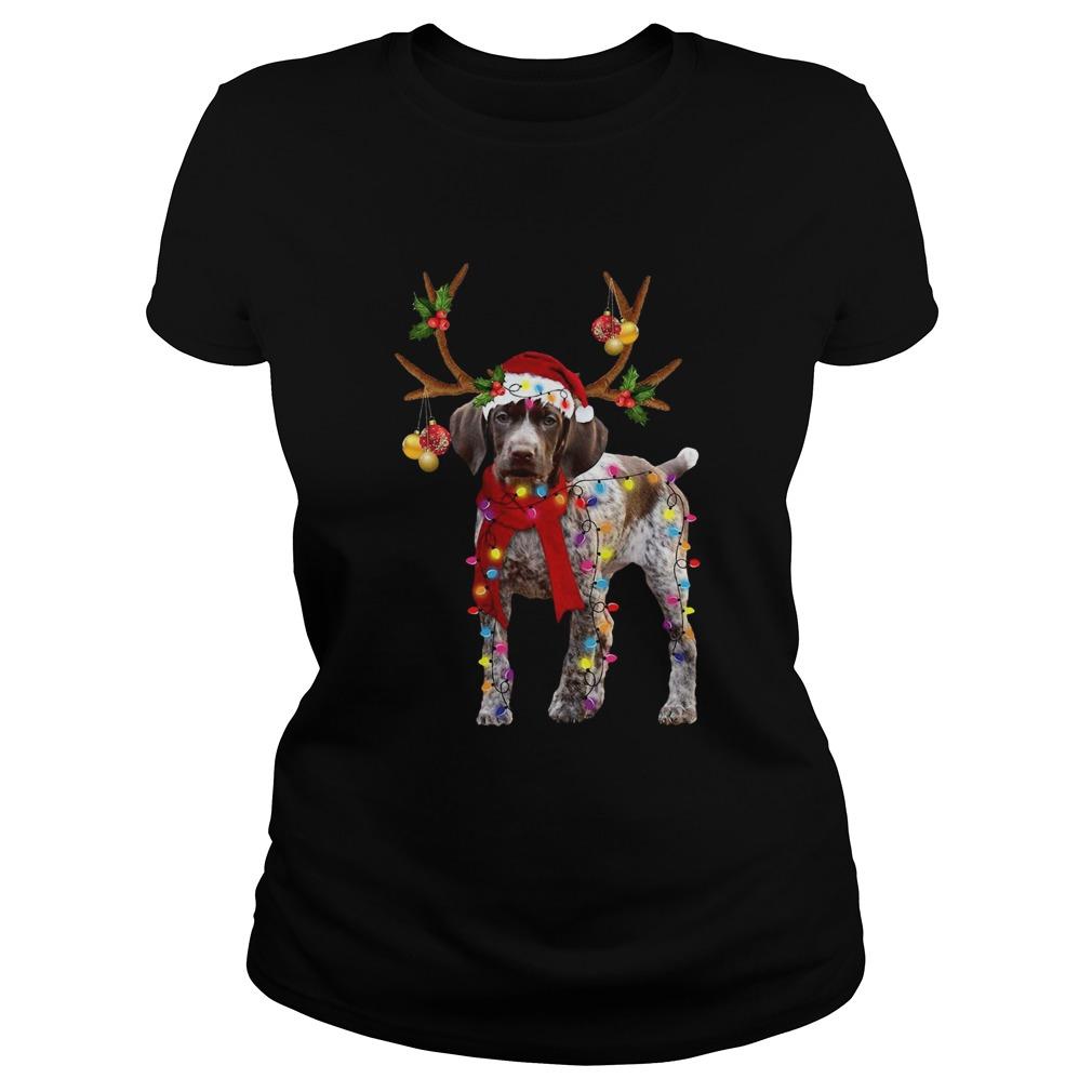German Shorthaired Pointer Gorgeous Reindeer  Classic Ladies