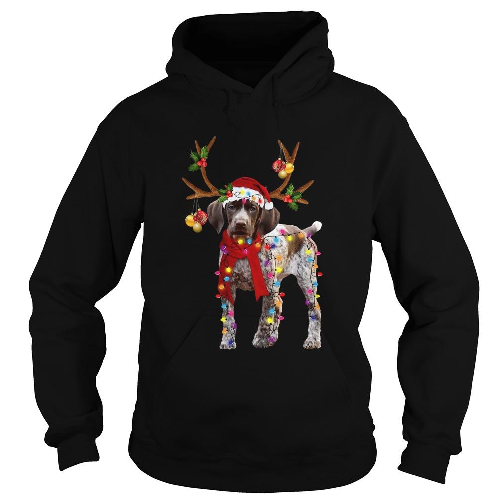 German Shorthaired Pointer Gorgeous Reindeer  Hoodie