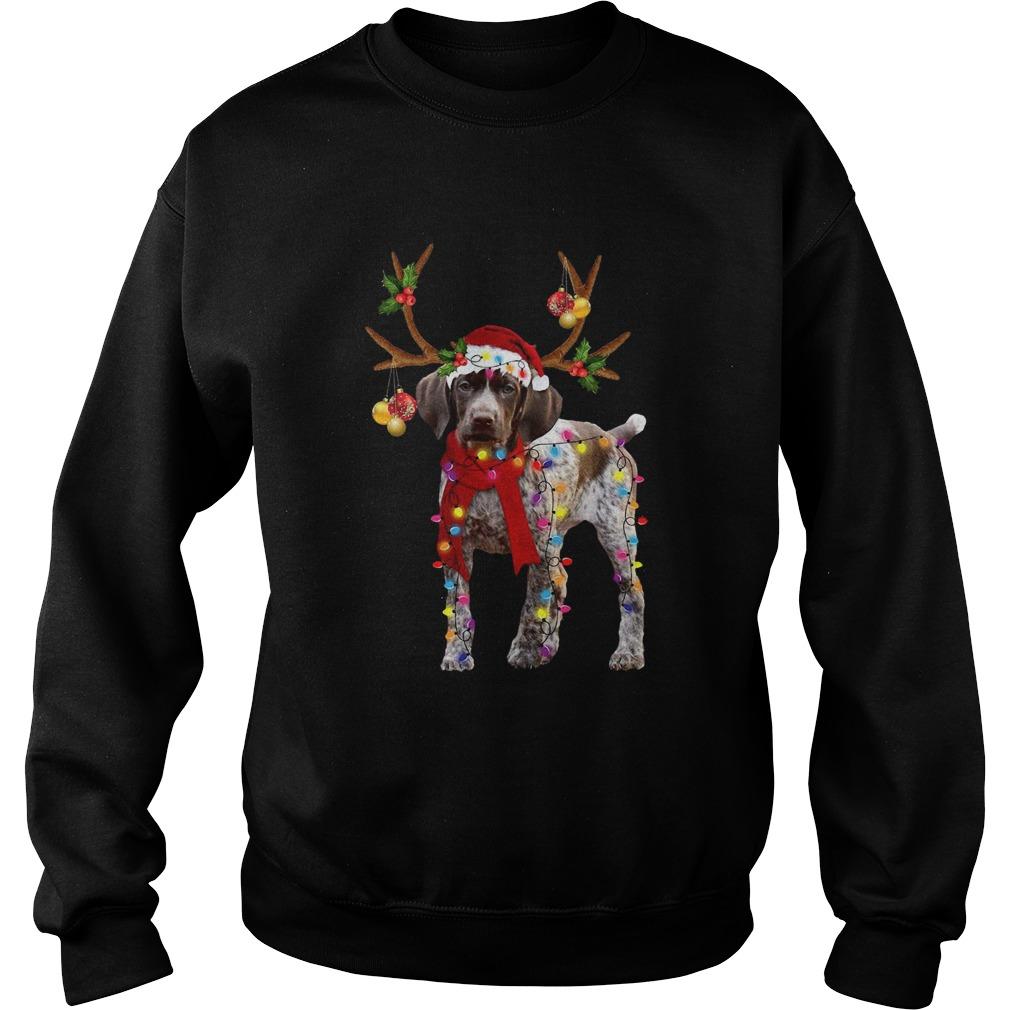German Shorthaired Pointer Gorgeous Reindeer  Sweatshirt