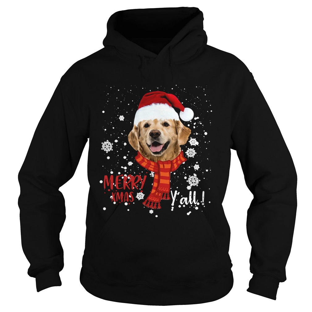 Golden Retriever Merry Xmas Yall  Hoodie