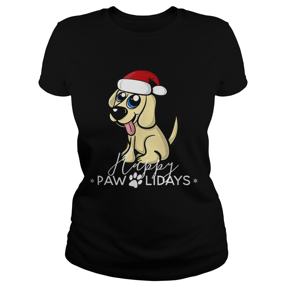 Golden Retriever Puppy Christmas Santa Hat  Classic Ladies