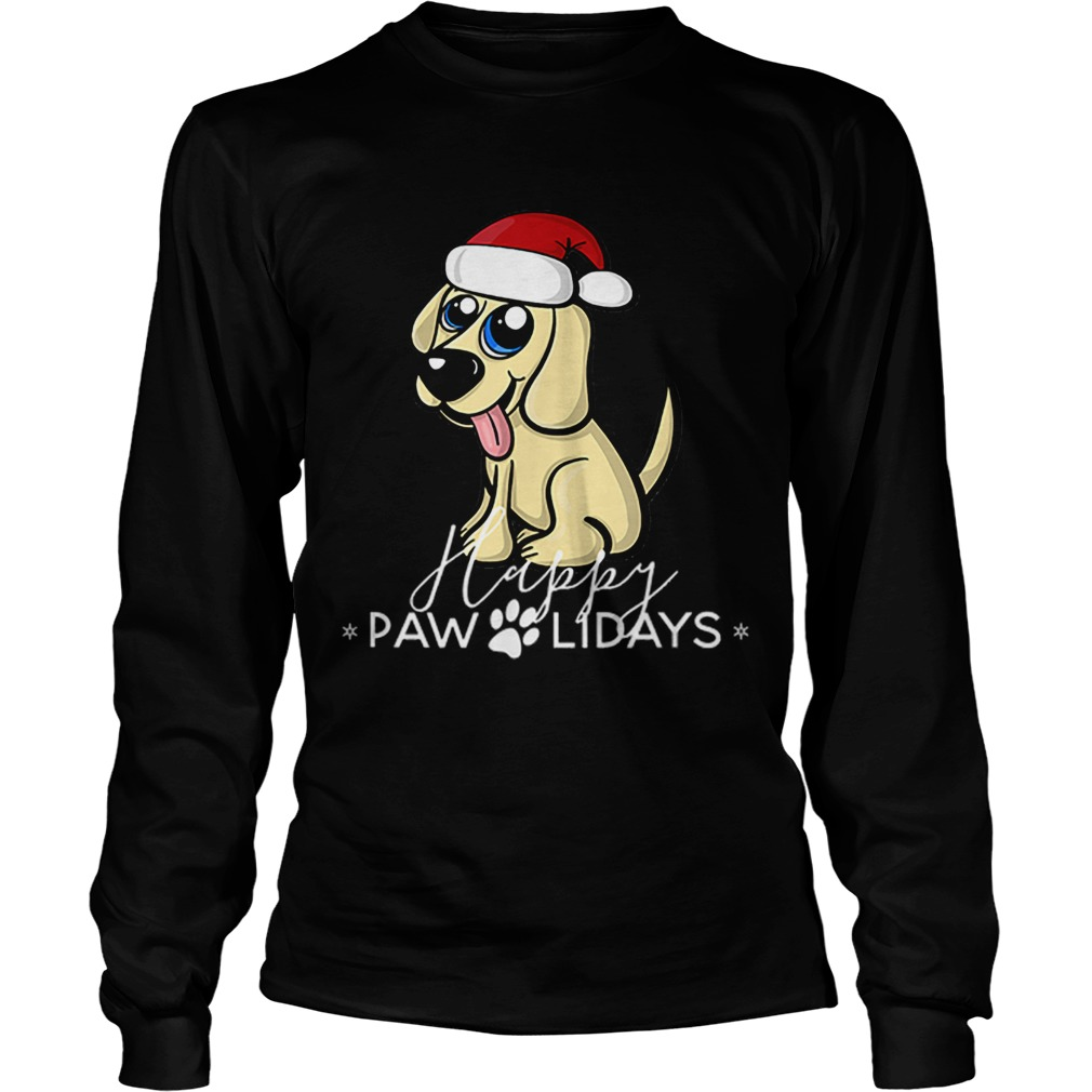 Golden Retriever Puppy Christmas Santa Hat  LongSleeve