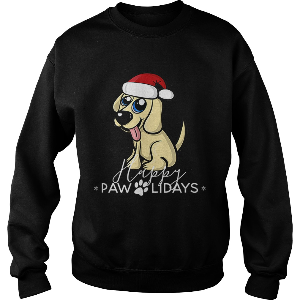 Golden Retriever Puppy Christmas Santa Hat  Sweatshirt