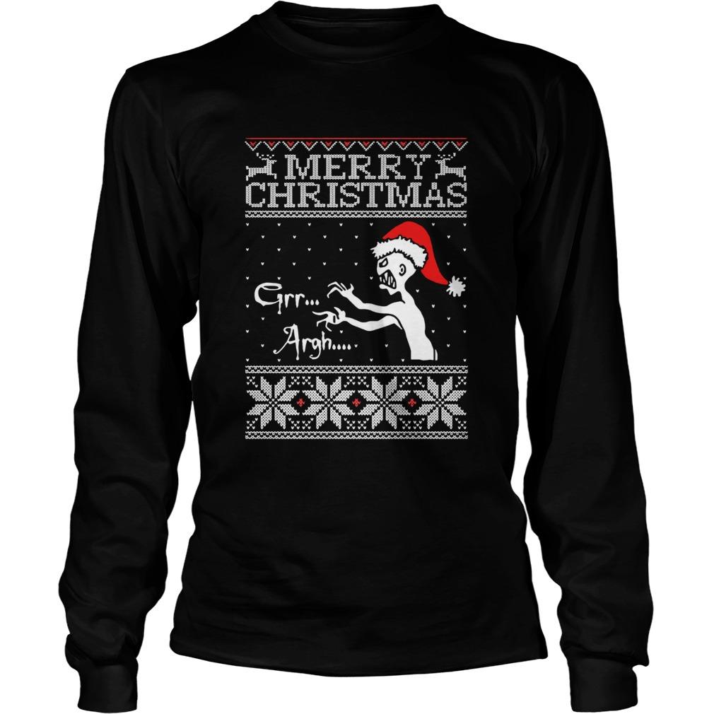 Grr Argh Vampire Monster Merry Christmas Ugly  LongSleeve