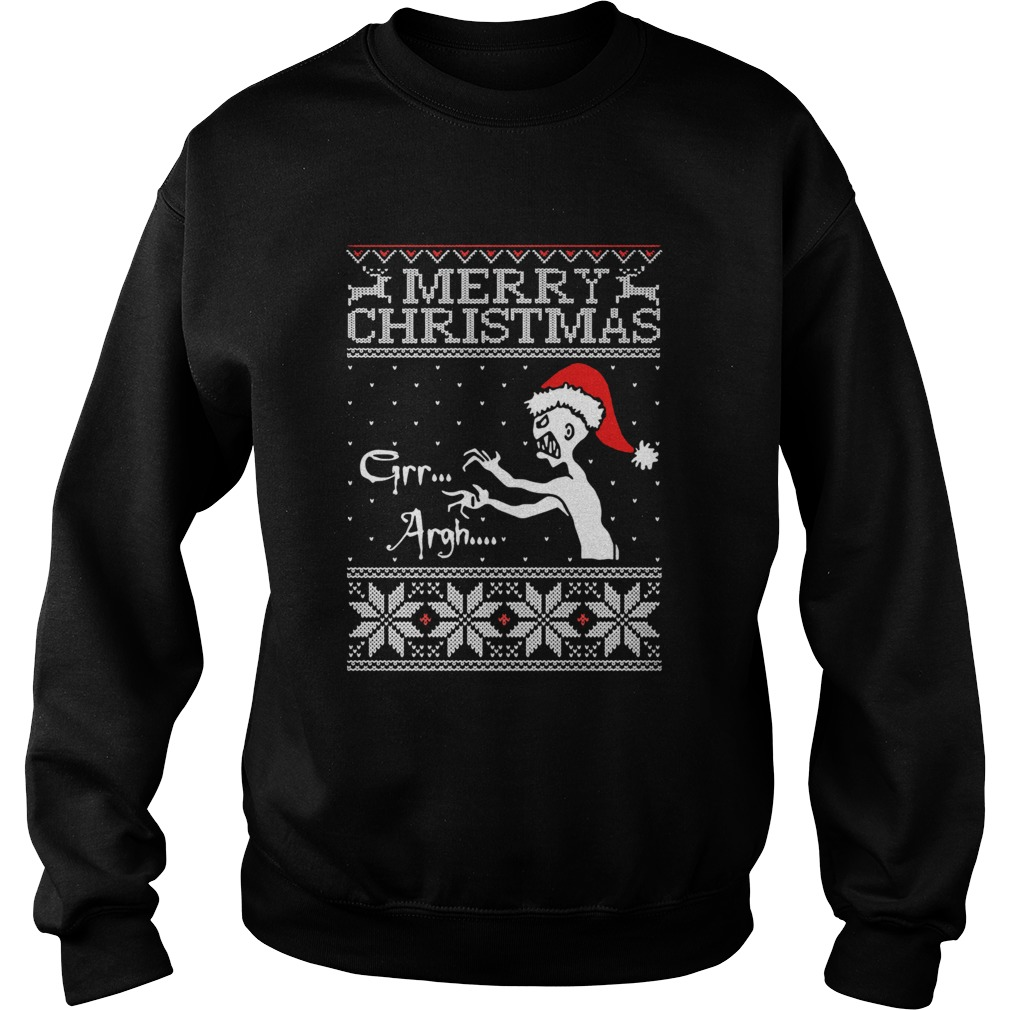 Grr Argh Vampire Monster Merry Christmas Ugly  Sweatshirt