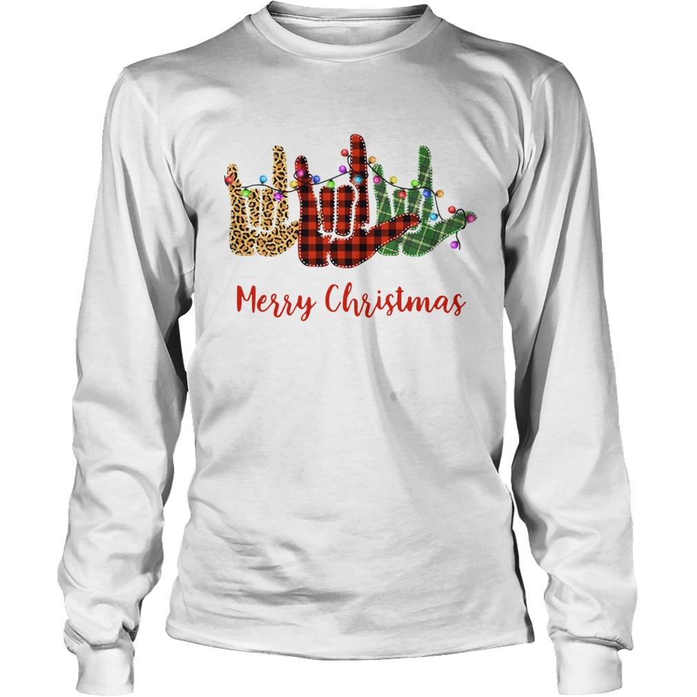 Hand I Love You Merry Christmas  LongSleeve