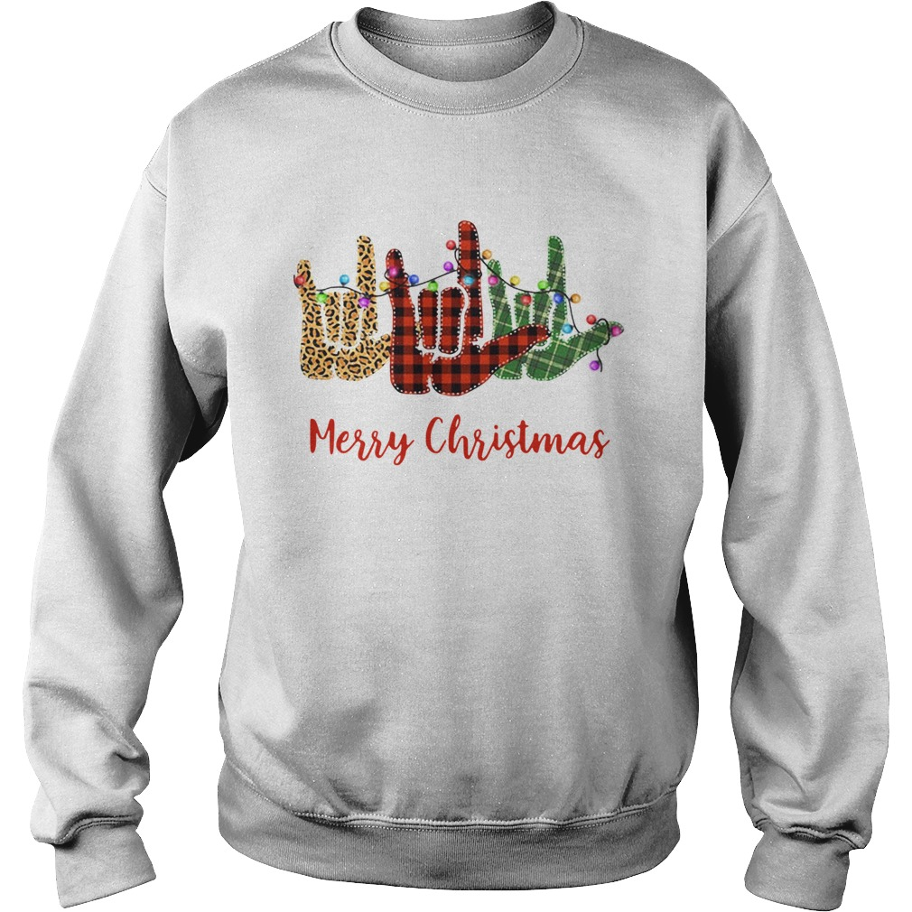 Hand I Love You Merry Christmas  Sweatshirt