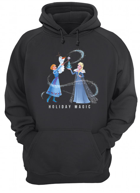 Holiday Magic Frozen Elsa Anna & Olaf Disney  Unisex Hoodie