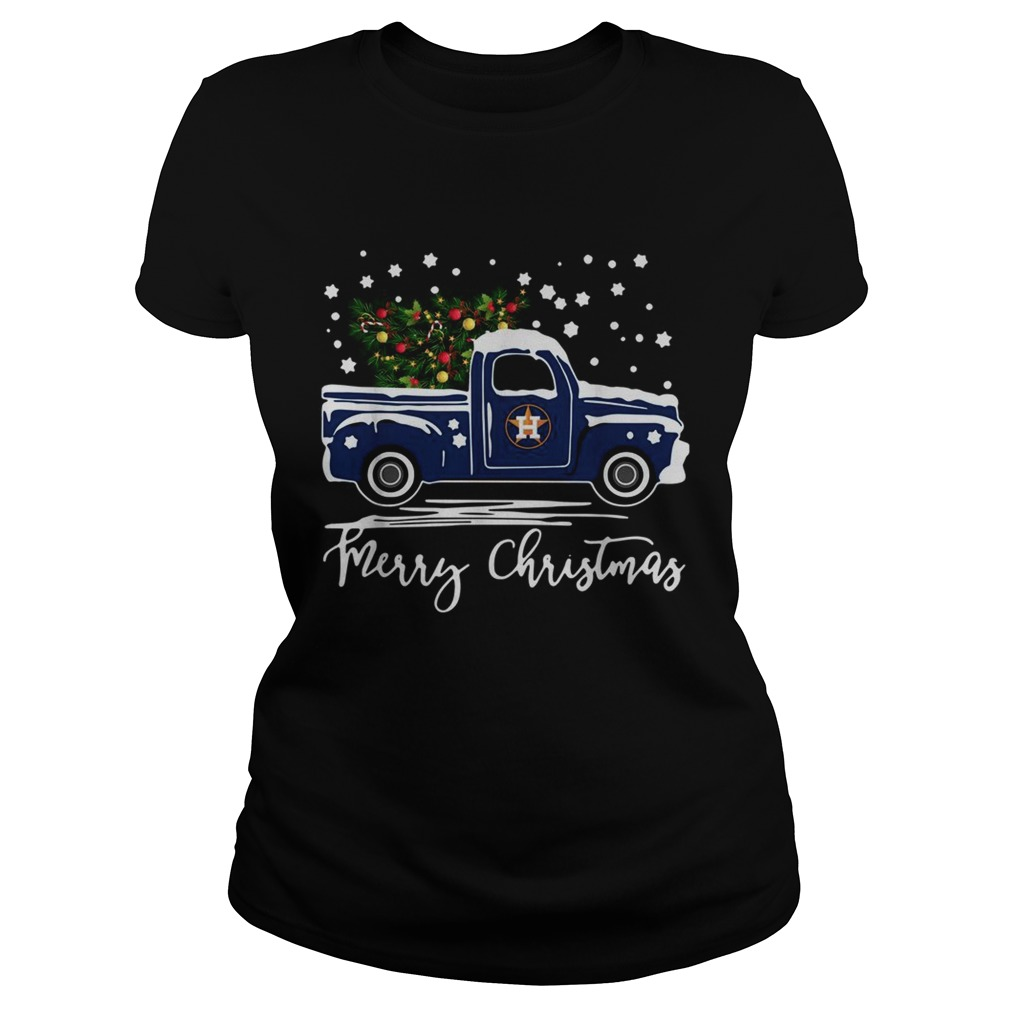 Houston Astros Blue car merry Christmas  Classic Ladies