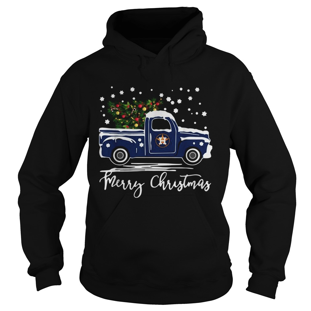 Houston Astros Blue car merry Christmas  Hoodie