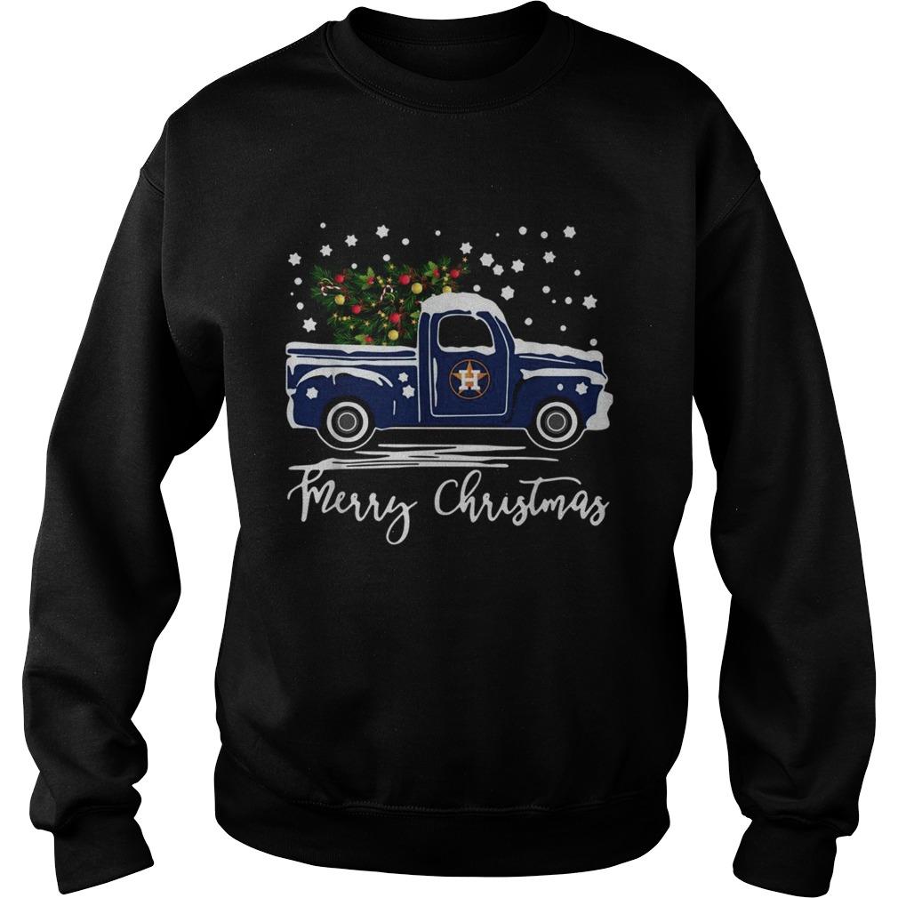 Houston Astros Blue car merry Christmas  Sweatshirt