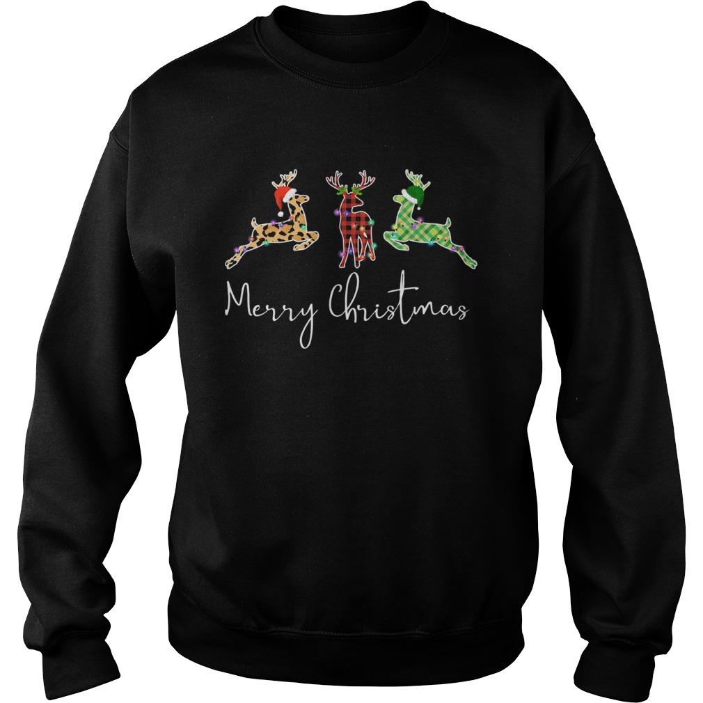 Hunting Leopard Merry Christmas  Sweatshirt