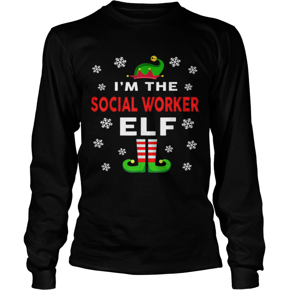 I Am The Social Worker Elf Christmas Sweater Gift Funny  LongSleeve