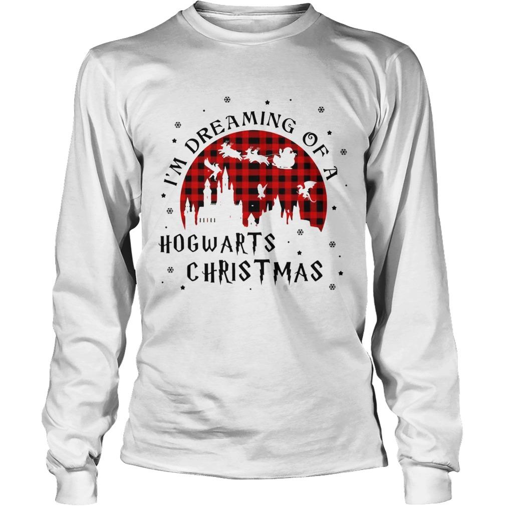 Im Dreaming Of A Hogwarts Christmas Reindeer Sleigh Christmas  LongSleeve