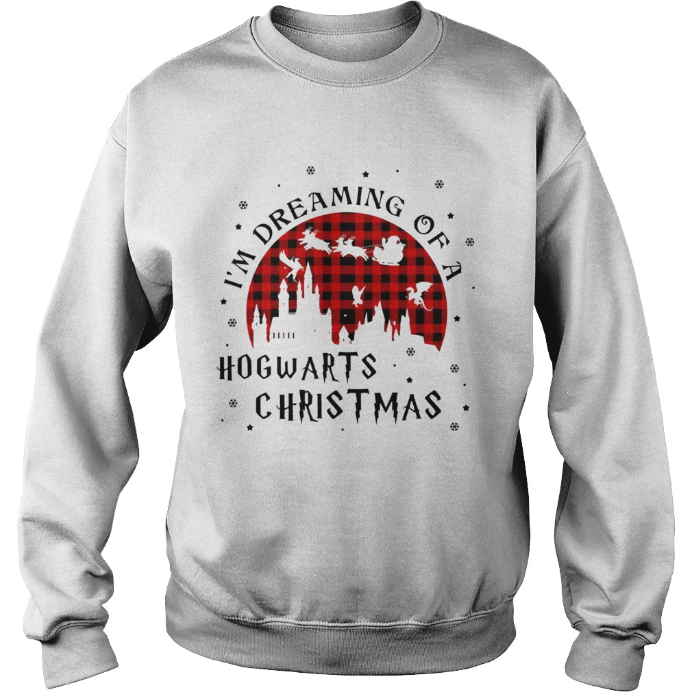 Im Dreaming Of A Hogwarts Christmas Reindeer Sleigh Christmas  Sweatshirt