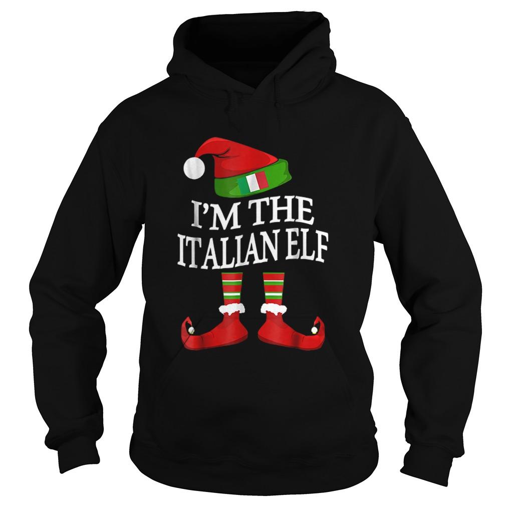 Im The Italian Elf Matching Group Family Christmas  Hoodie