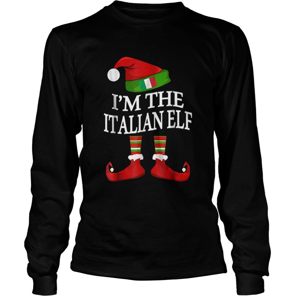Im The Italian Elf Matching Group Family Christmas  LongSleeve