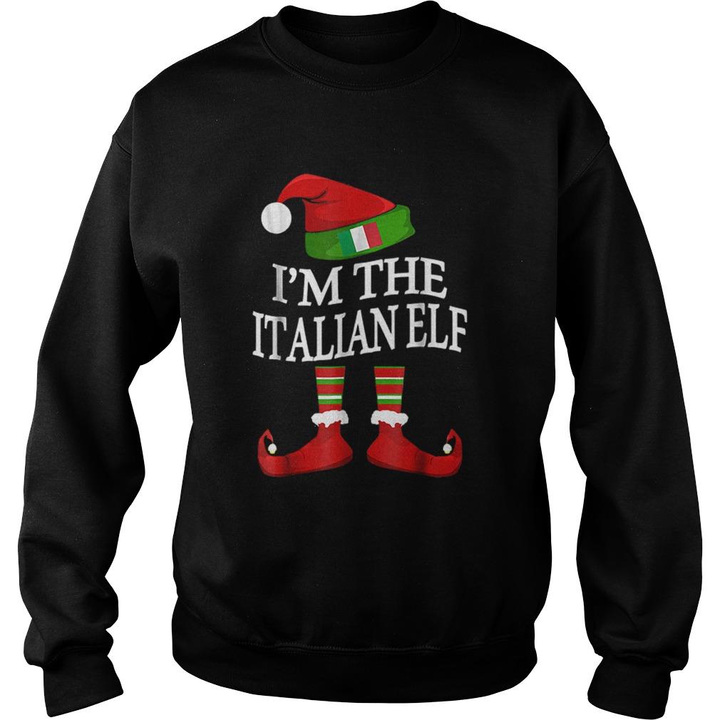 Im The Italian Elf Matching Group Family Christmas  Sweatshirt