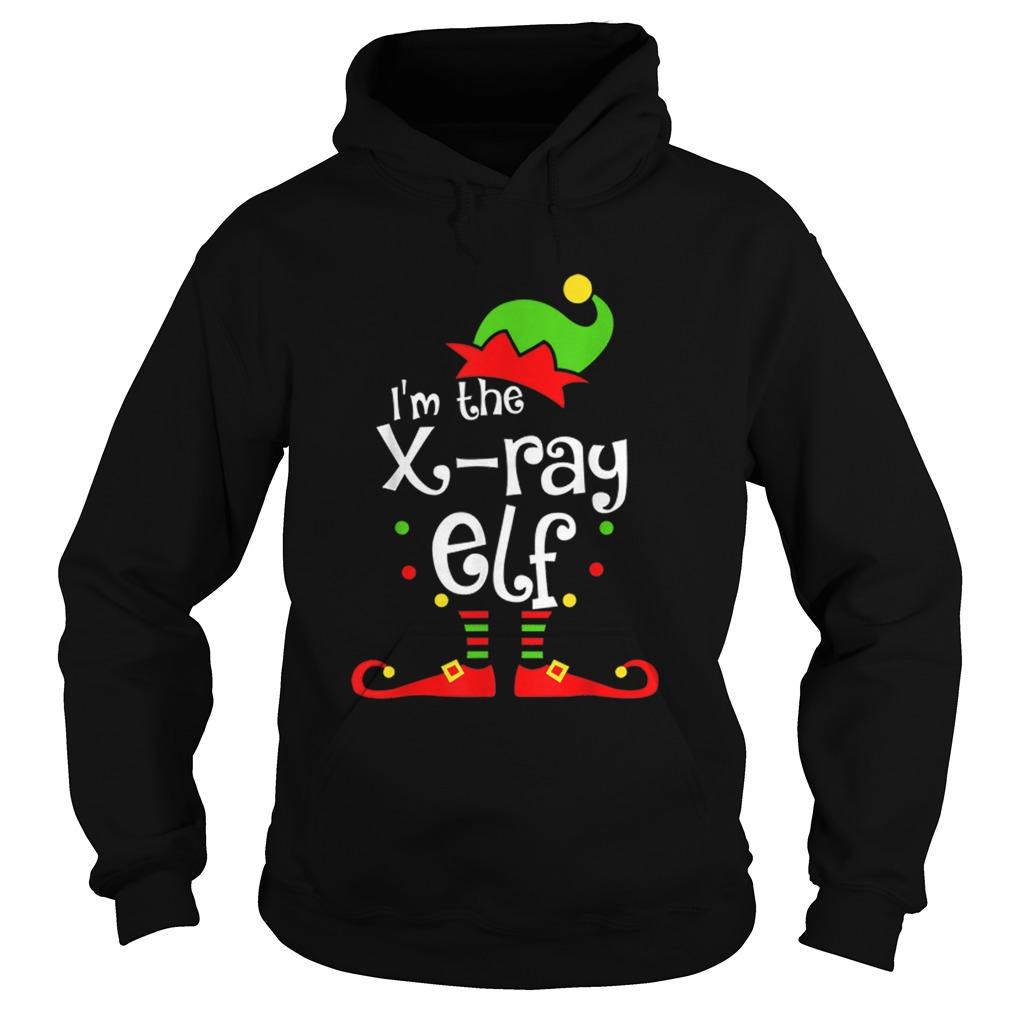 Im The Xray Tech ELF Christmas Xmas Funny Matching Squad  Hoodie