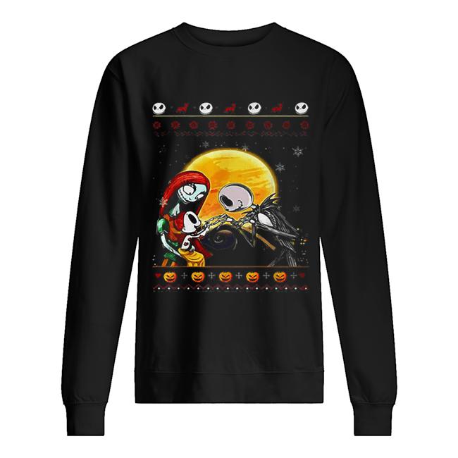 Jack Skellington and Sally ugly Christmas  Unisex Sweatshirt