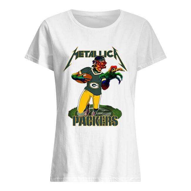 Monster Metallica Green Bay Packers  Classic Women's T-shirt