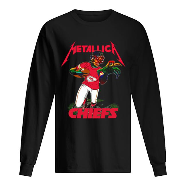 Monster Metallica Kansas City Chiefs  Long Sleeved T-shirt