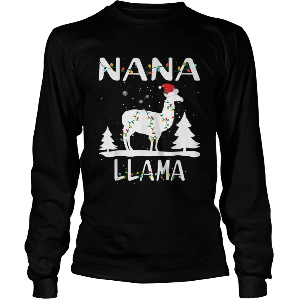 Nana Llama Christmas Funny Matching Family Pajama Gift  LongSleeve