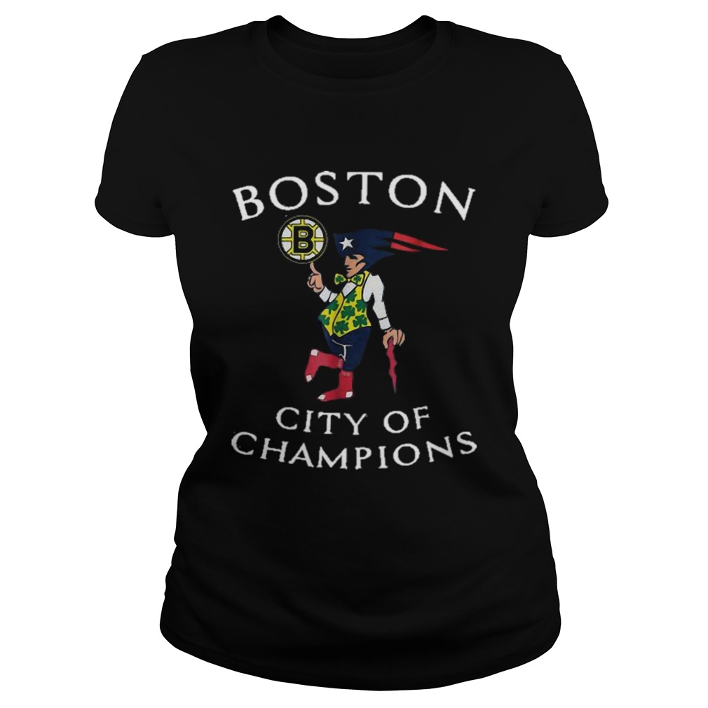 New England Patriots Boston Bruins city of Champions  Classic Ladies