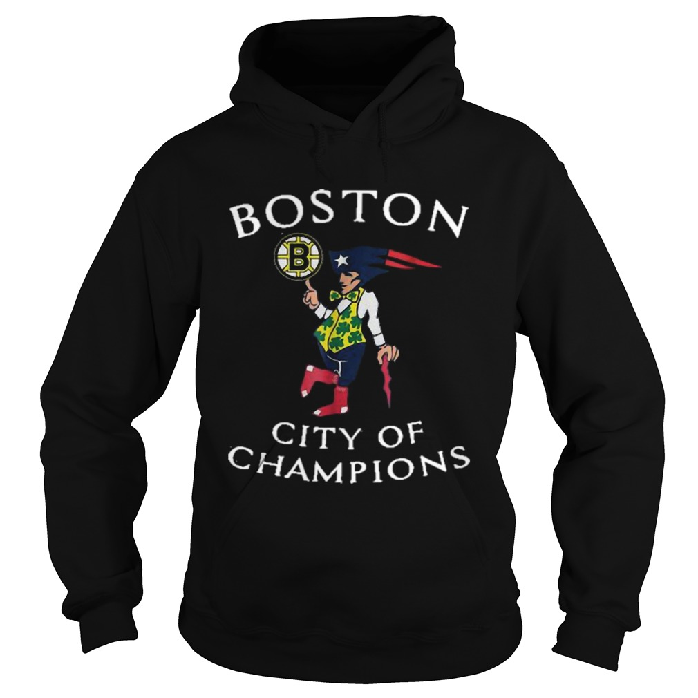 New England Patriots Boston Bruins city of Champions  Hoodie
