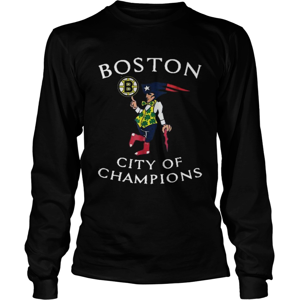 New England Patriots Boston Bruins city of Champions  LongSleeve