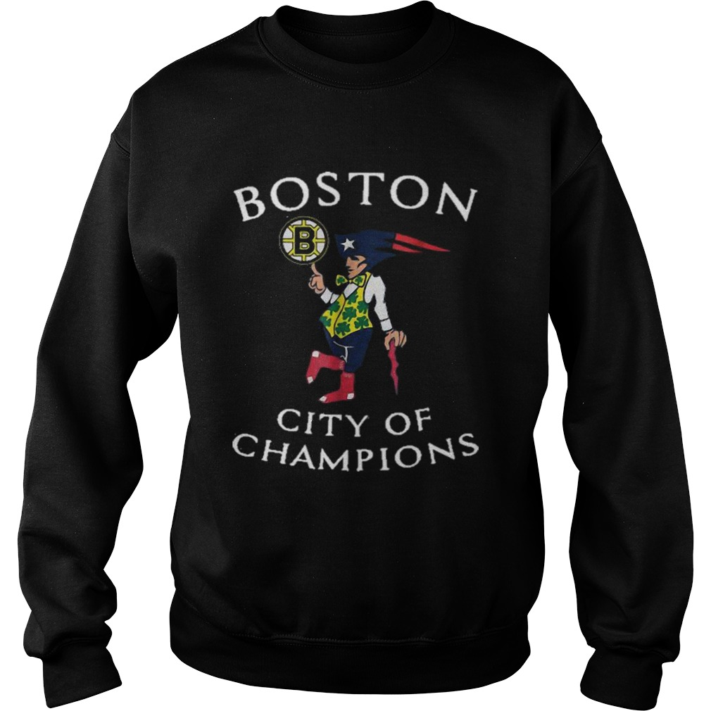 New England Patriots Boston Bruins city of Champions  Sweatshirt
