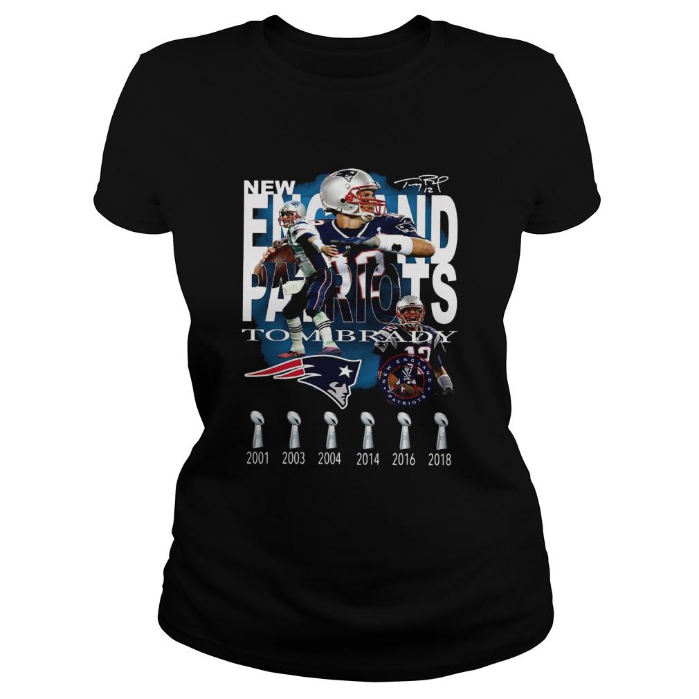 New England Patriots Tom Brady Signature  Classic Ladies