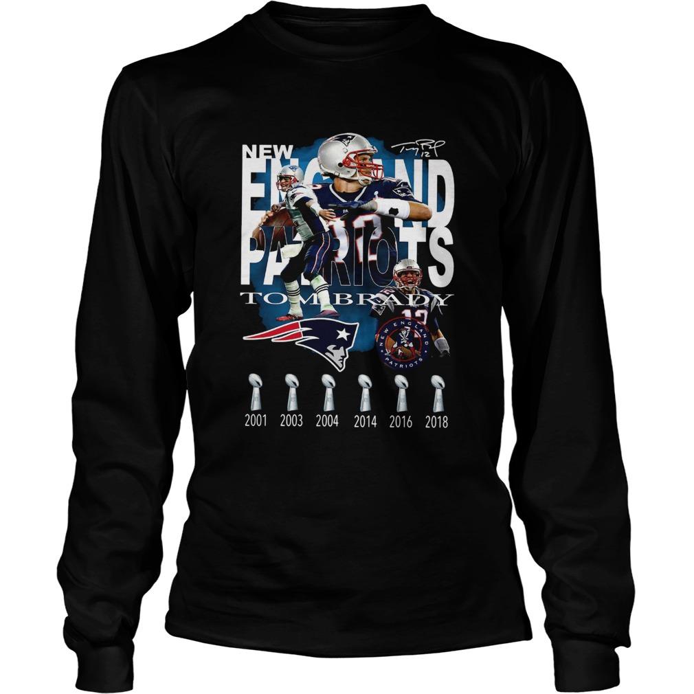 New England Patriots Tom Brady Signature  LongSleeve