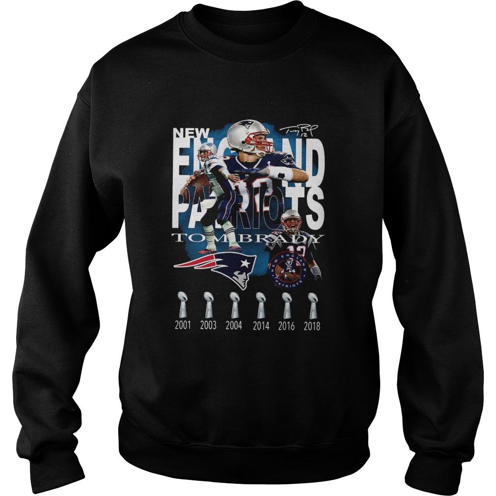 New England Patriots Tom Brady Signature  Sweatshirt