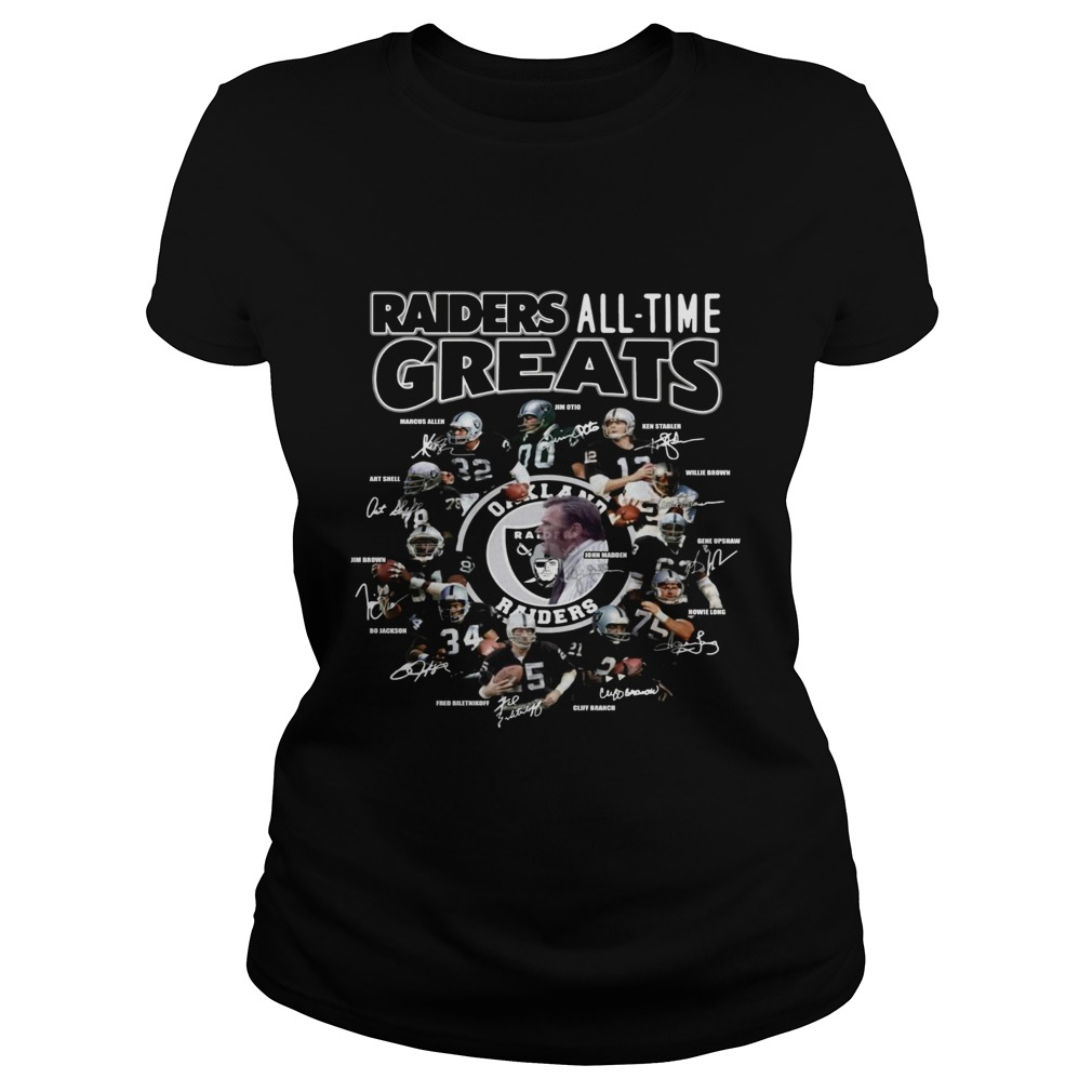 Oakland Raiders all time greats team signatures  Classic Ladies