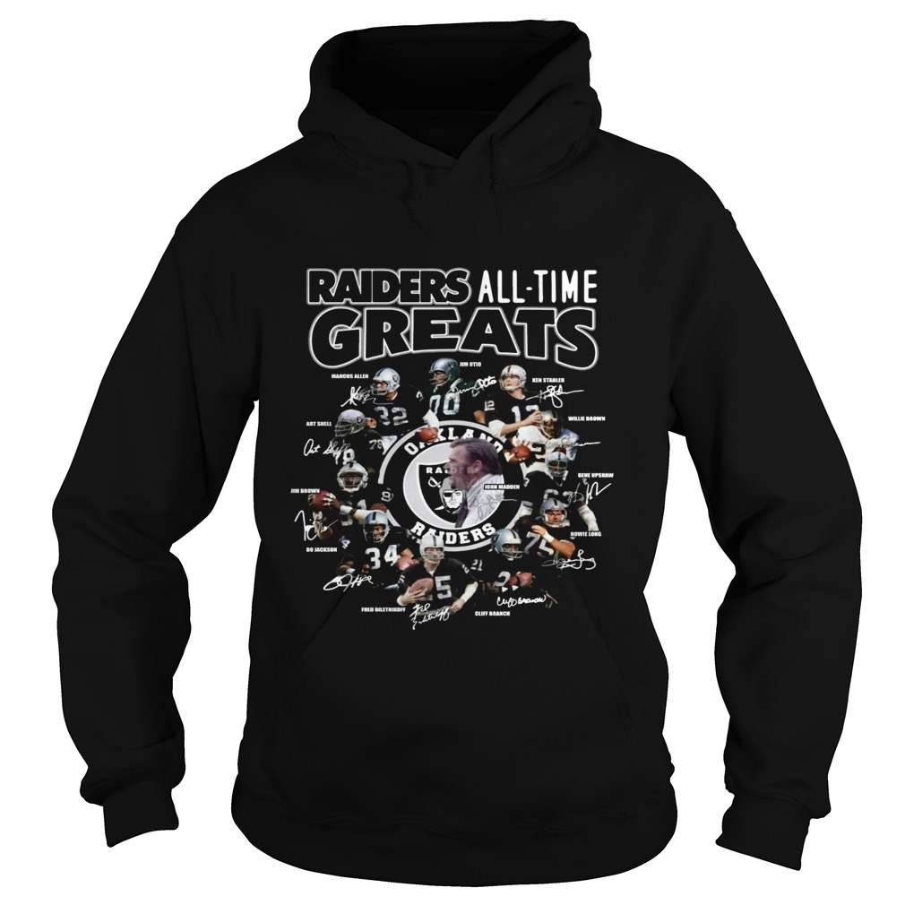 Oakland Raiders all time greats team signatures  Hoodie