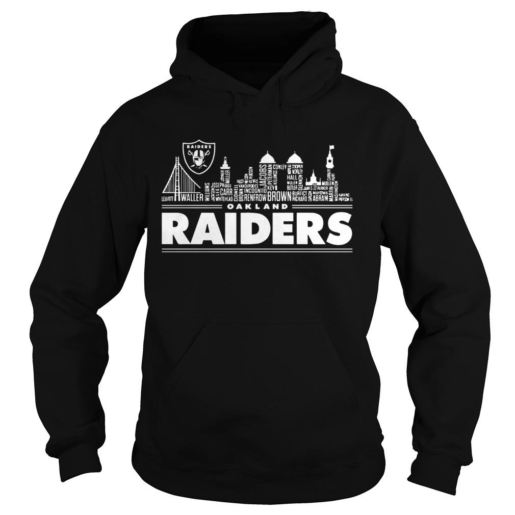 Oakland Raiders Building Players  Hoodie