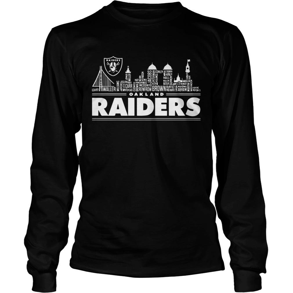 Oakland Raiders Building Players  LongSleeve