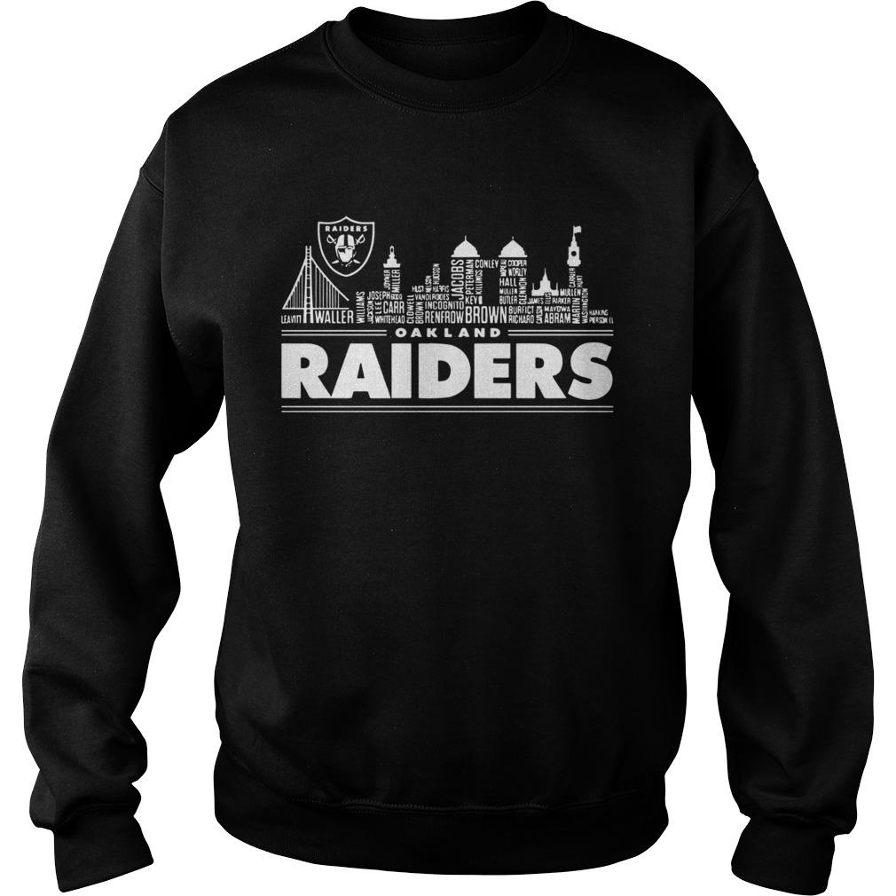 Oakland Raiders Building Players  Sweatshirt