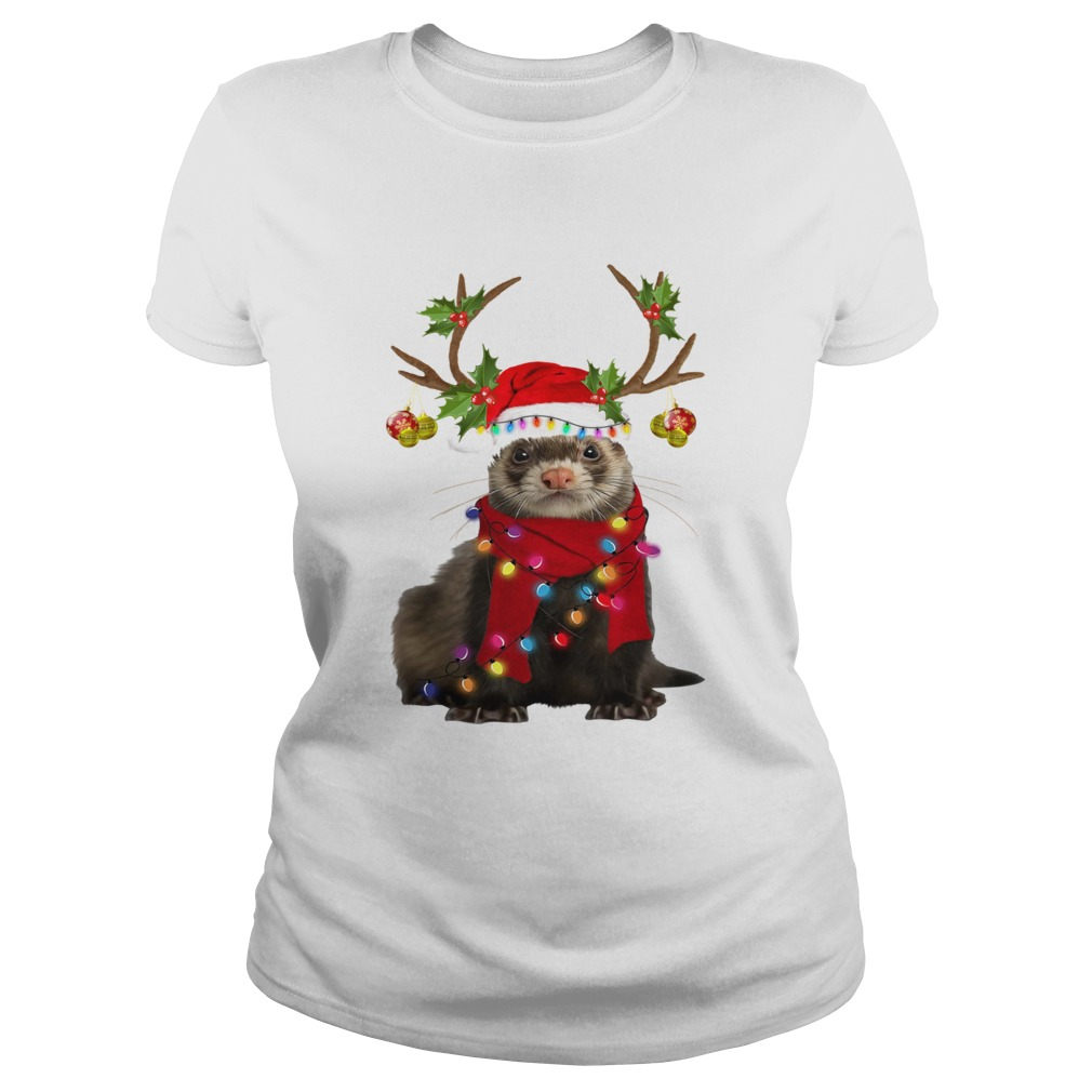 Otter gorgeous reindeer light Christmas  Classic Ladies